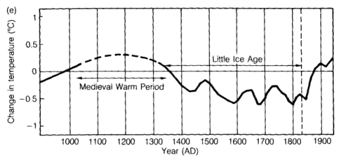 Temperature Reconstruction of the last 1000 years