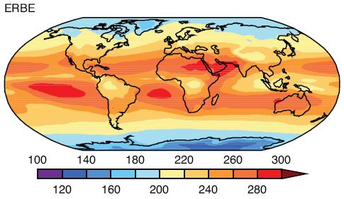 Outgoing Longwave Radiation, OLR, ERBE