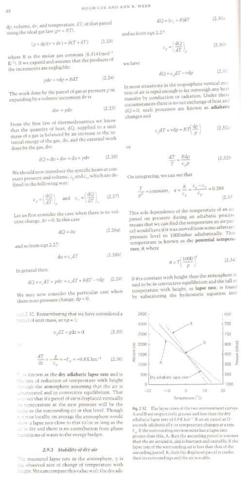 From Handbook of Atmospheric Science, Hewitt and Jackson (2003)